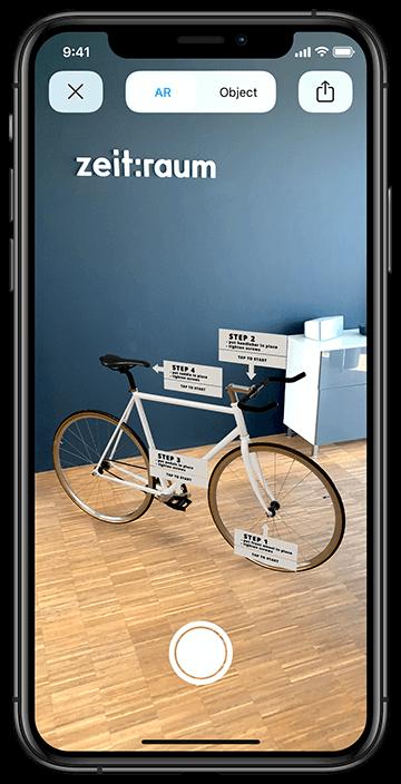 iPhone 11 Pro Max mit AR-Bike Anwendung